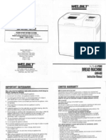 Welbilt ABM4400 Instruction Manual print two sided and fold for booklet