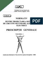_PE504-96  Normativ pt proectarea sistemelor de circuite secundare ale staiilor electrice Prescriptii Generale Vol.1.pdf