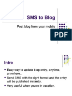 SMS to Blog