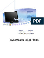 Samsung Syncmaster 730B Manual