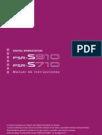 Manual de Instrucciones YAMAHA PSR S710 S