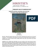Christie's February Sale Of American Art | New York, 27 February