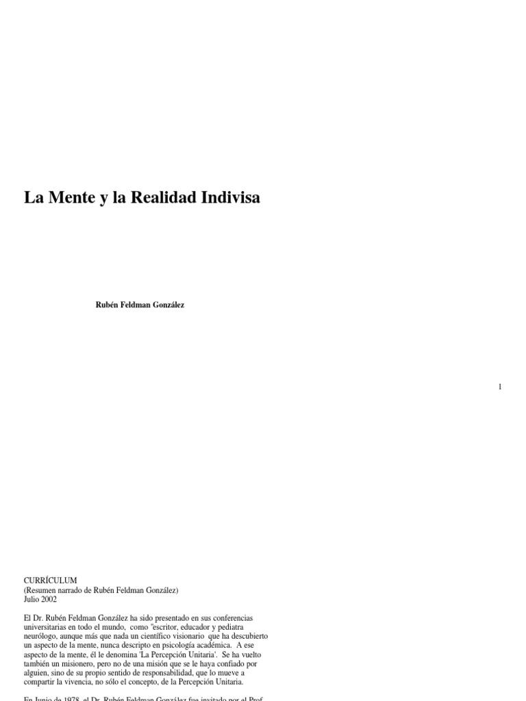 La mente y la realidad - Rubén Feldman González