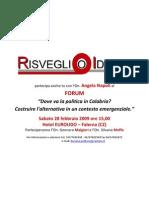 Invito Forum Risveglio Ideale Con Angela Napoli