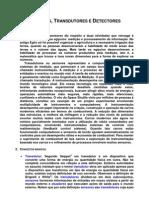 INSTRUMENTAÇÃO E CONTRÔLE(6)-(Sensores, Transdutores e Detectores)