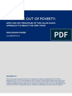 PATHWAYS OUT OF POVERTY: APPLYING KEY PRINCIPLES OF THE VALUE CHAIN APPROACH TO REACH THE VERY POOR