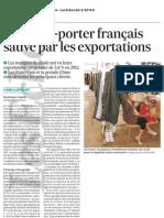 Le prêt-à-porter français sauvé par les exportations