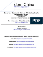 Farris, c.s. - Gender and Grammar in Chinese With Implications for Language Universals