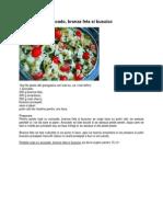 Peste Copt Cu Avocado, Branza Feta Si Busuioc