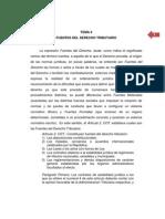 Tema 4. Fuentes Del Derecho Tributario