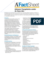 Whistleblower Regulations under the ACA