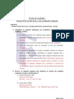 Ficha de Trabalho  Reações de ácido base e de oxidação redução