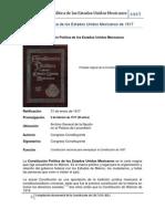 Compilación de la Constitución Política de los Estados Unidos Mexicanos de 1917
