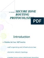 The Secure Zone Routing Protocol(Szrp)1