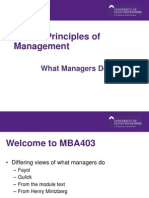 MB403 Principles of Management Week 2 C Clarke Hill Slides