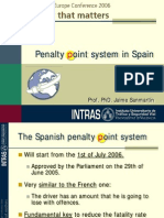Introducing the Penalty Point System in Spain
