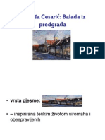 D. Cesarić Balada iz predgrađa-pon
