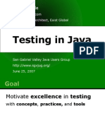 Testing in Java David Noble With Notes