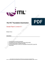 ITIL Foundation Examination Sample