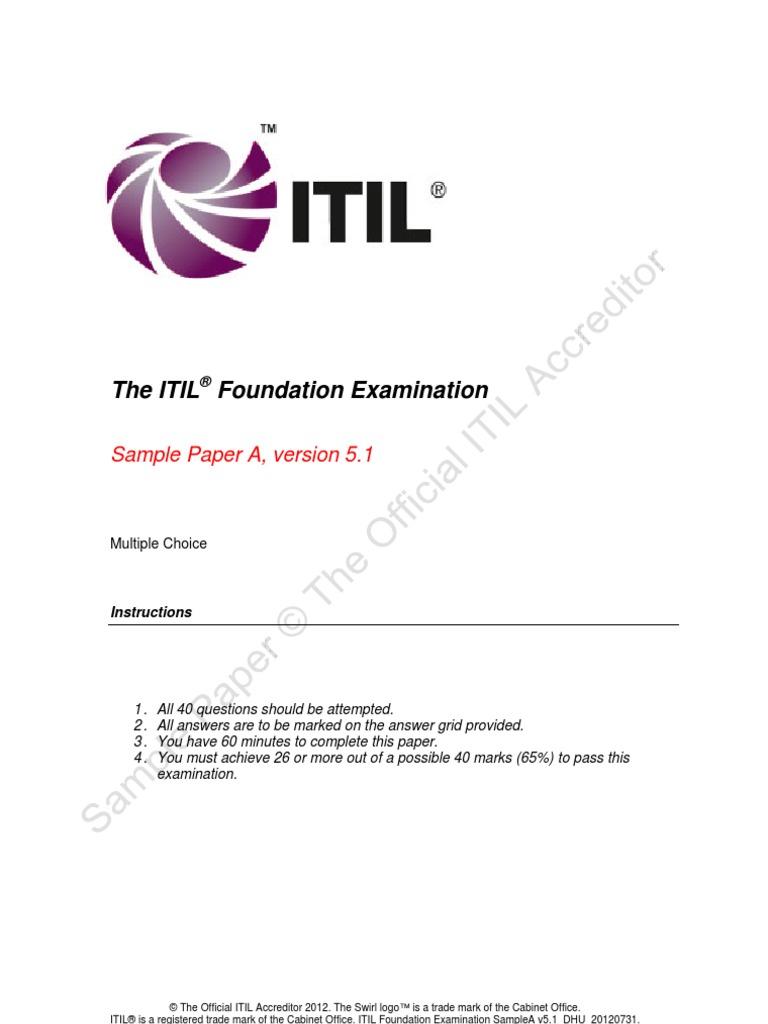 Itil foundation examination sample itil leadership mentoring xflitez Gallery