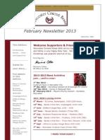 WCB Newsletter Feb 2013