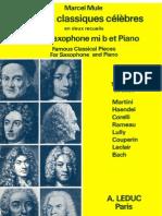 Marcel Mule - Pièces Classiques Célèbres