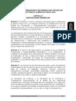 Presupuesto Egresos 2012