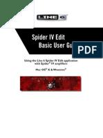 Spider IV Edit Basic User Guide - English ( Rev C )