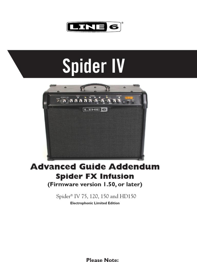 Spider IV FX Infusion Addendum - English ( Rev D ) | Software | Computer  Engineering