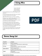 Boss BR-1600CD_Performance Patch List