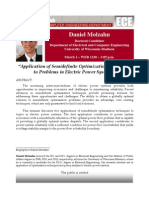 Application of Semidefinite Optimization Techniques to Problems in Electric Power Systems
