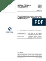 NTC5802 gestión de la investigación