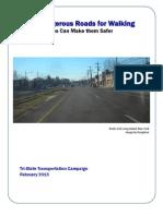 Most Dangerous Roads for Walking