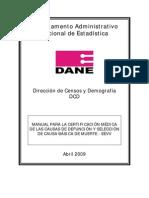 Manual Para La Certificacion Medica de Las Causas de Defuncion EEVV[1]