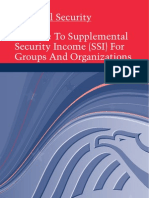 A Guide to Supplemental Security Income (SSI) for Groups and Organizations