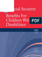 Benefits for Children With Disabilitites