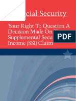 Your Right to Question a Decision Made on Your Supplemental Security Income (SSI) Claim