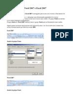 Personalizando o Word 2007 e Excel 2007