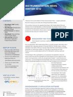 Finisar Instrumentation News, Winter 2012