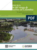 resumen GESTIÓN DEL RIESGO de desastres en Colombia