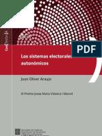 Los sistemas electorales autonómicos. Joan Oliver Araujo