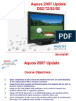 2007 Sharp Aquos TV Service Update