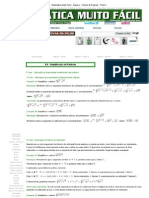 Matemática Muito Fácil - Álgebra - Cálculo de Radicais - Parte II