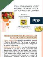Expo Decretos, Resoluciones, Leyes y Normas Tecn Frutas Lista