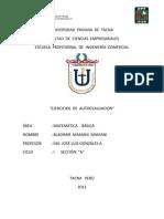 Universidad Privada de Tacna Matematica Autoevaluacion