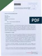 Carta enviada por el Ministerio de Educación en respuesta a las preocupaciones del CNE respecto a la gestión
