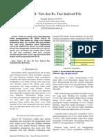 Analisis B-Tree Dan B+Tree Indexed File