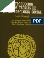 Dumont 1975 Introduccion a Dos Teorias de La Antropologia Social