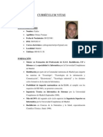 Curriculum Vitae Carlos Gomez Torrijos