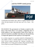 Rs780m Being Paid for 51MW Rental Power   DAWN.com